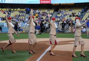 Emirates Cabin Crew at Dodgers