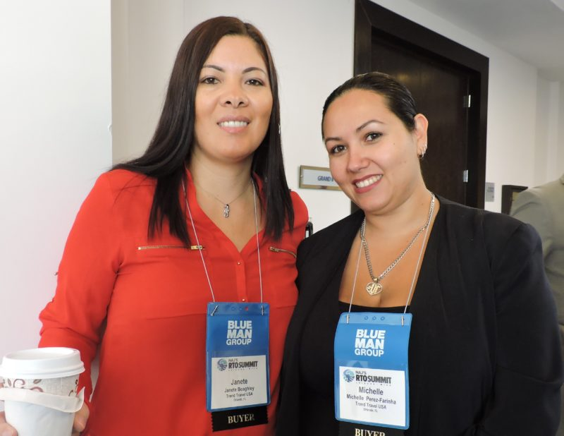 New to the RTO Summit and its International Digital Day are this twosome from Brazil's Trend Travel USA (Grupo Trend): Janete Beaghley, receptive operations; and Michelle Perez-Farinha, business development.