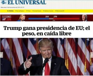 Trump Wins Mexico Headline