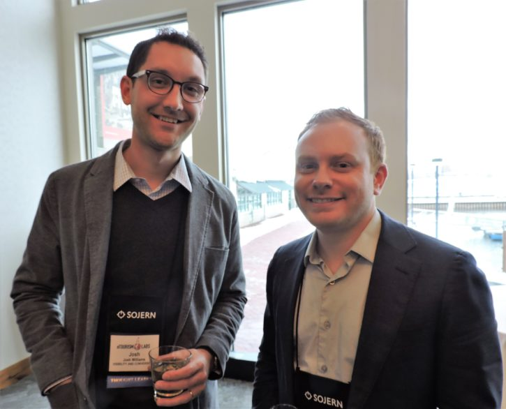 Josh Williams (left), digital marketing director, Visibility Conversions; and Jack Cotter, digital marketing manager, en route marketing