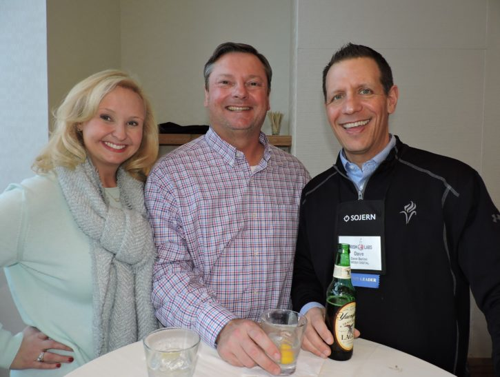 (Left to right) Lisa Konupka, social media manager, Tunica CVB; John Pricher, executive director, Visit Gainesville; and Dave Serino, founder and strategist, TwoSix Digital