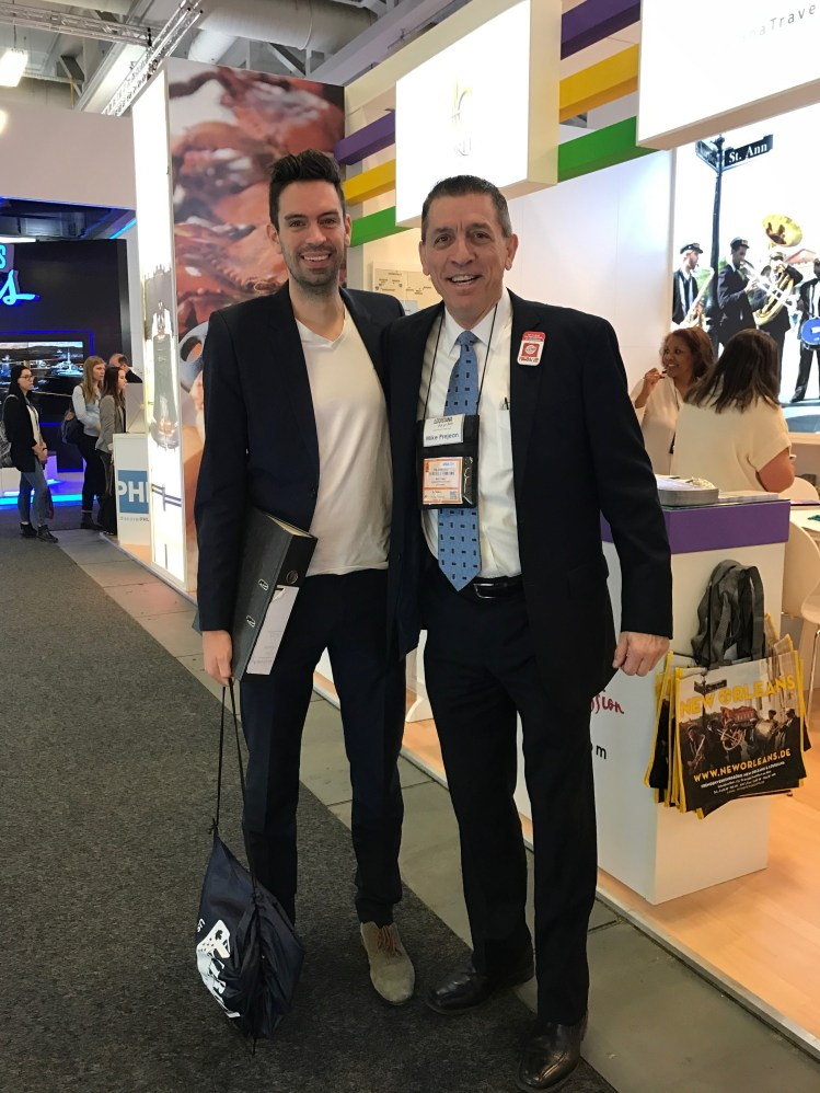 Timo Kohlenberg, America Unlimited; and Mike Prejean, Louisiana Office of Tourism