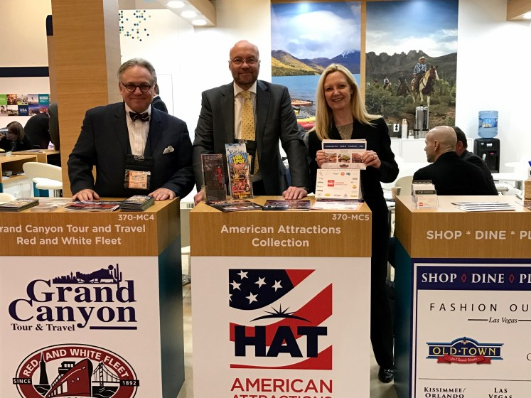 Kevin Streit, Kevin Streit and Associates; Kevin Brett, HAT Tourism Marketing, American Attractions Collection; and Carolyn J. Feimster, Shop Dine Play USA