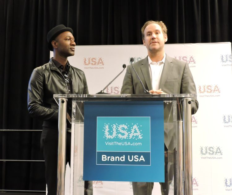 Aloe Blacc (left) musician, who will be working with producer Shaun MacGillivray (right) on the next big screen film that will promote USA's urban adventures.
