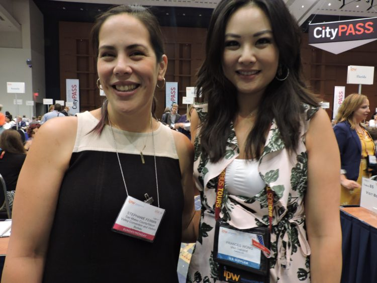Stephanie Fermin (left), media and public relations manager, San Matero County/Silcon Valley CVB; and Frances Wong, senior public relations manager, Visit Oakland.