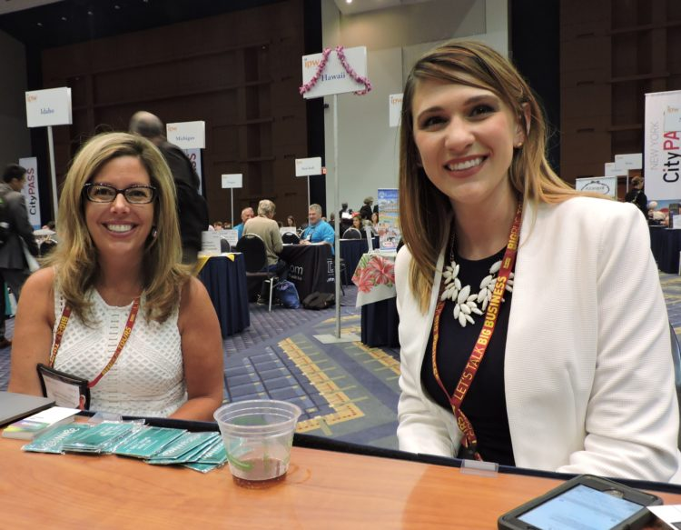 From Experience Kissimmee: Jodi Disalle (left), vice president of marketing and communications; and Cori Powers, director of communications.