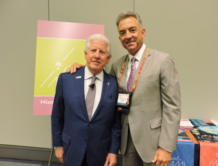 Bill Talbert, president and CEO, Greater Miami CVB; and Christopher Thompson, president and CEO, Brand USA.