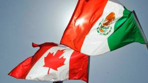 Mexico Canada flags