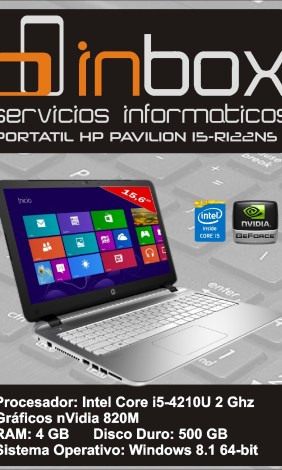 HP PAVILION 15-R122NS