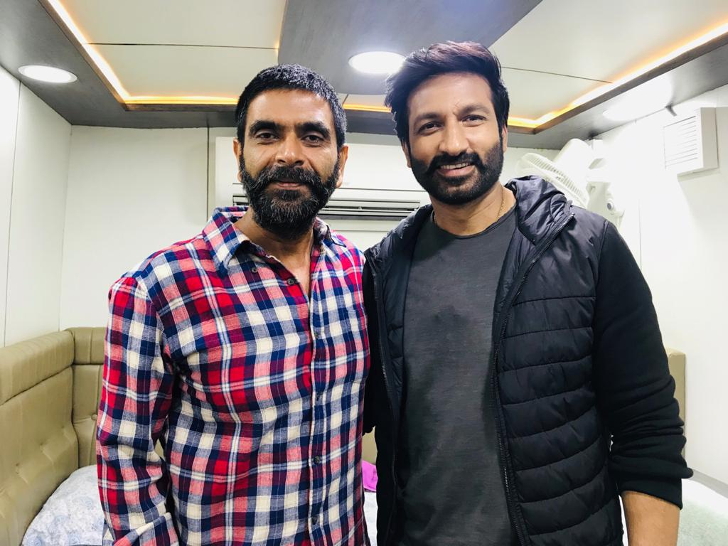 Rohit Pathak with Gopichand