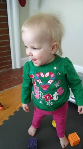 My daughter happened to be wearing her I Heart Santa shirt today!
