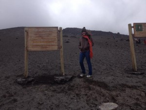 At Cotopaxi, the volcano!