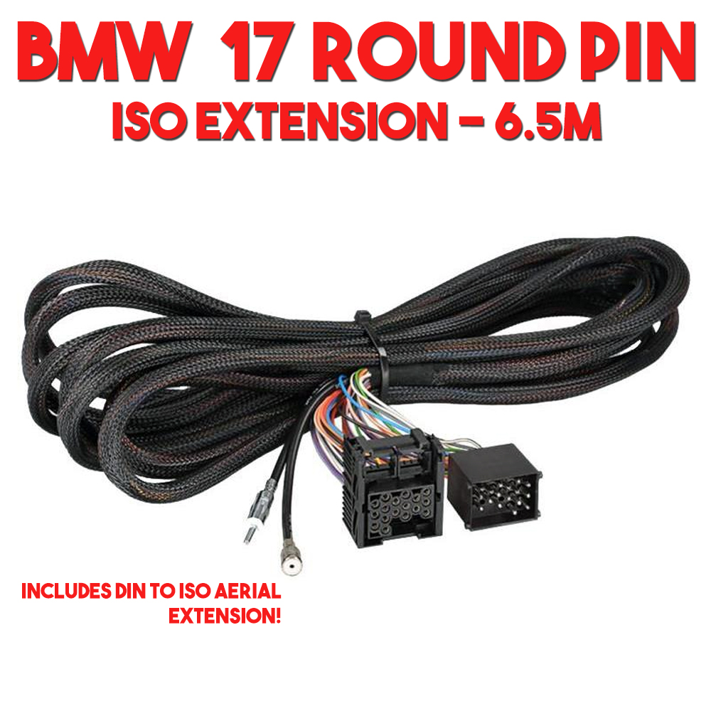 medium resolution of bmw 3 5 7 series x5 z3 car stereo iso rear wiring harness aerial extension 6 5 mtrs