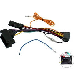 audi a3 8p a4 b7 tt canbus car stereo iso wiring harness w 12v ignition feed [ 1000 x 1000 Pixel ]