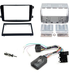 details about mercedes c class w203 double din fascia panel adaptor car stereo fitting kit [ 1000 x 1000 Pixel ]