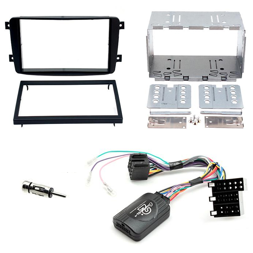 medium resolution of details about mercedes c class w203 double din fascia panel adaptor car stereo fitting kit