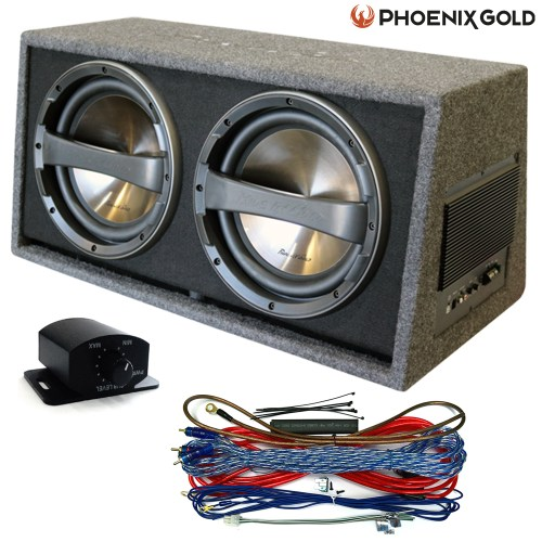 small resolution of details about phoenix gold dual twin 12 640w subwoofer active box free wiring bass control