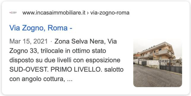 vendere velocemente casa a Roma: Esempio annuncio