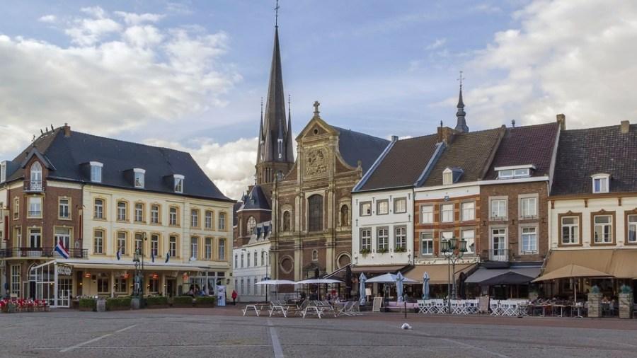 Historische markt van Sittard, Nederland