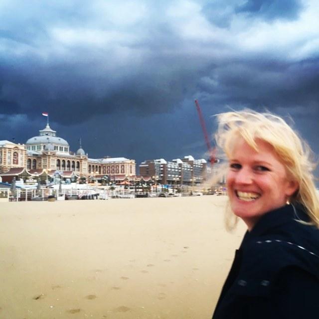 Selfie at Scheveningen beach, Kurhaus