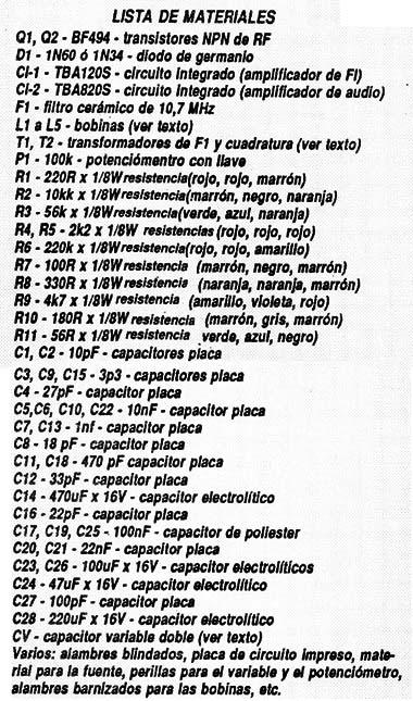 Explorador Súperheterodino Integrado de VHF (ART154S)
