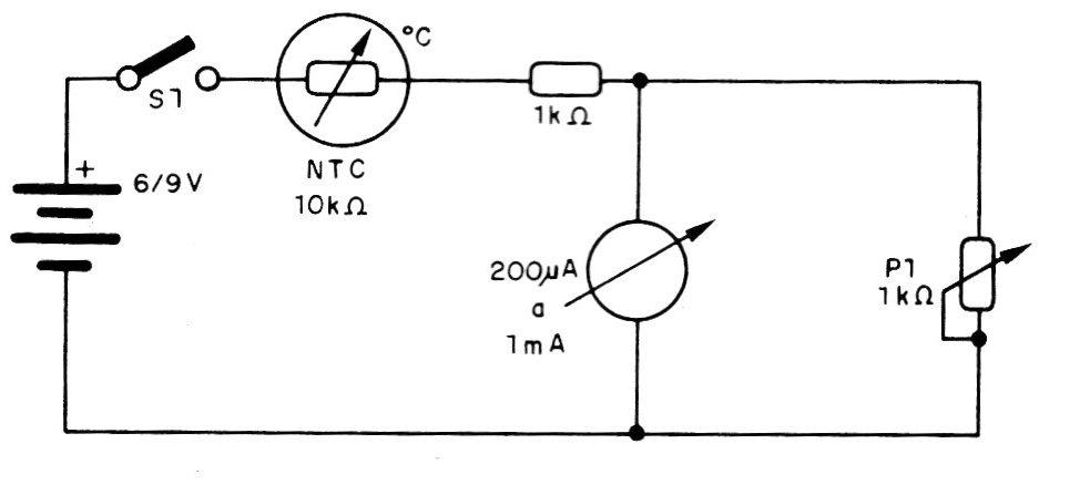 Termómetro simple con NTC (CIR1645S)