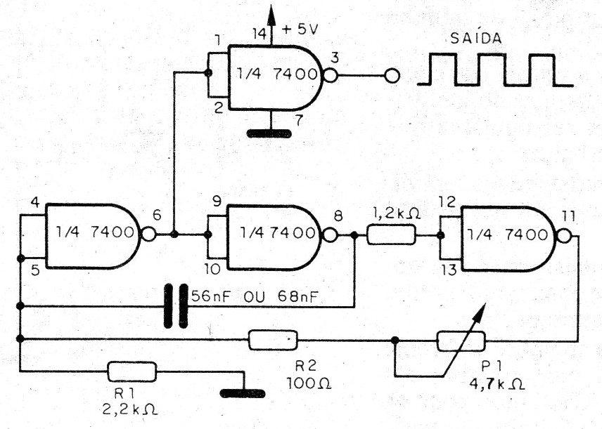 Oscilador TTL de 300 Hz a 25 kHz (CIR3917S)