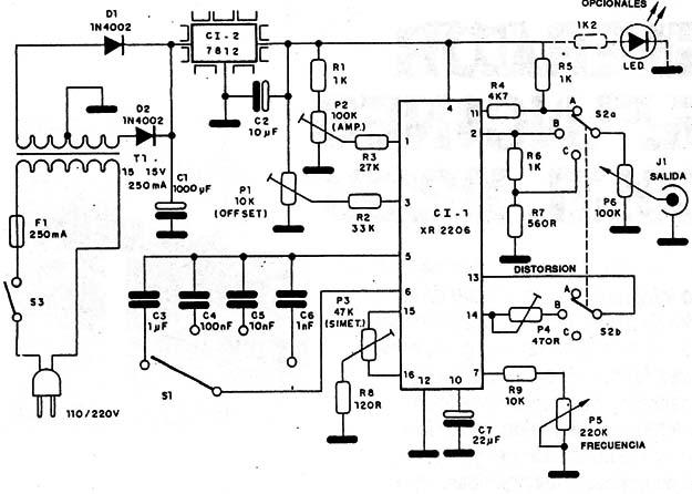Xr2206 Schematic