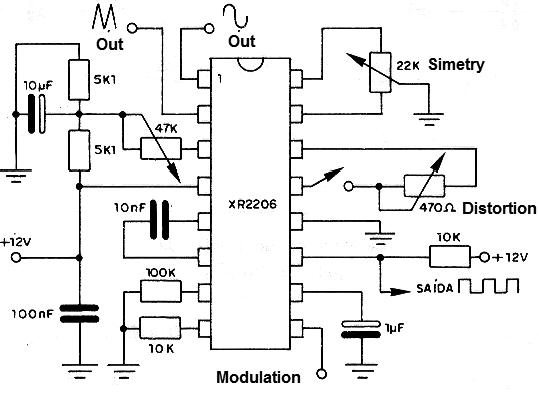Signal Generator Ic Xr2206