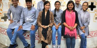 The students with mentors Priyanka Lakhwani and Anuya Mudholkar