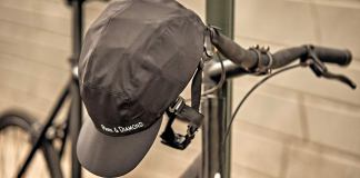Collapsible helmet fit into a custom water bottle-sized case