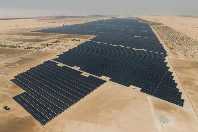 The world's largest single solar plant, Noor Abu Dhabi