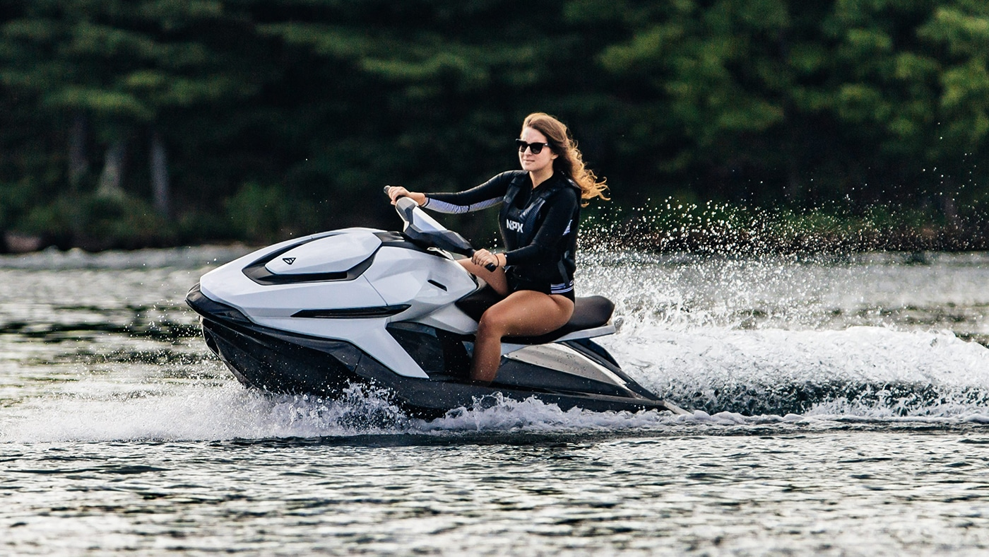 Taiga's new electric Jet Ski reaches the top speed of 65mph