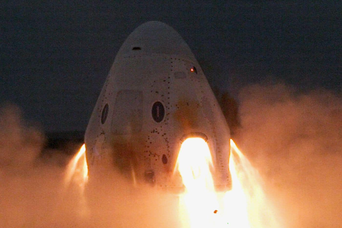 SpaceX successfully tests Crew Dragon's emergency engines