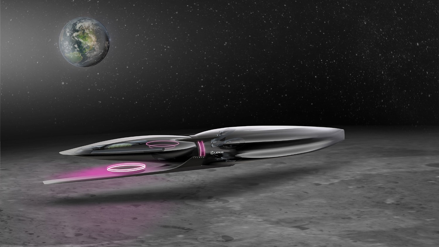 Lexus introduced seven unrealistic transport concepts for the Moon