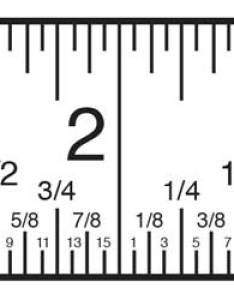 Inch fractions on  tape measure are distinguished by the size of tick mark finding measurements also fraction calculator find from decimal and rh inchcalculator