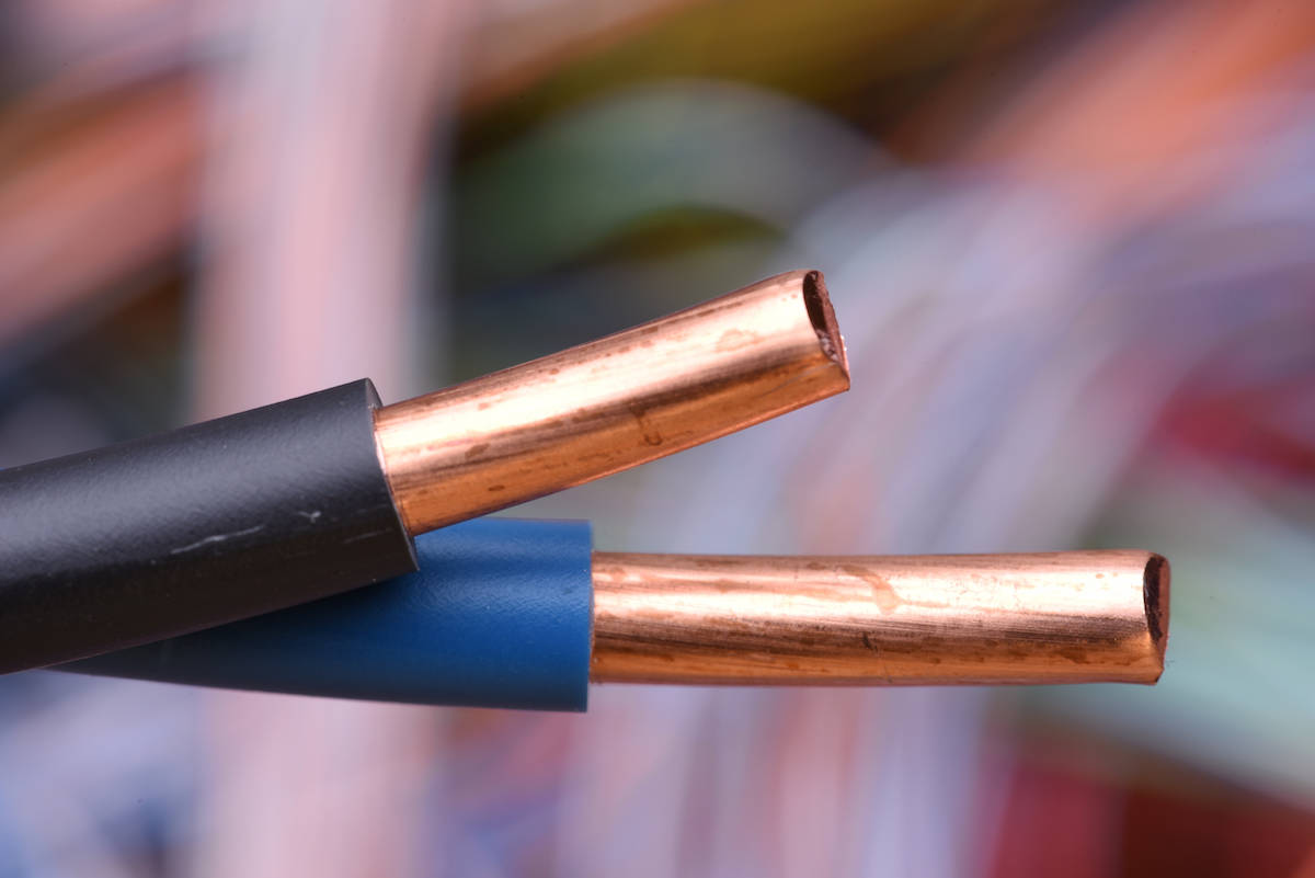 hight resolution of electric wire with a solid copper conductor