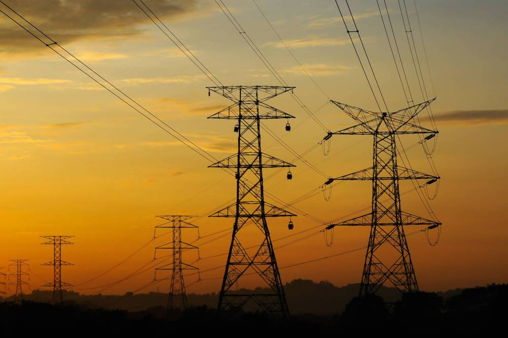 medium resolution of electrical power lines in the sunset