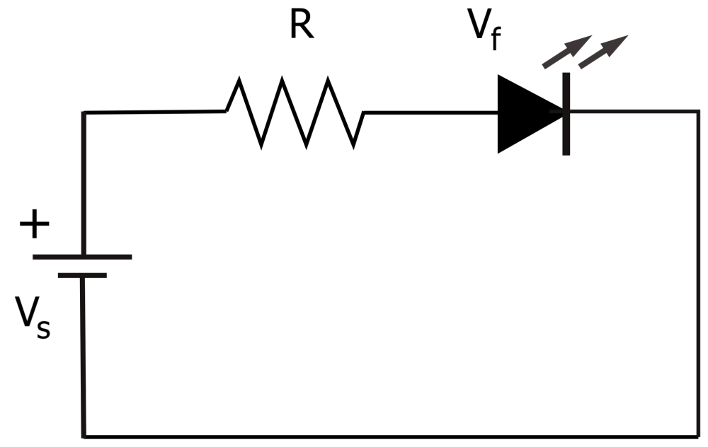 medium resolution of electrical circuit diagram showing an led and resistor