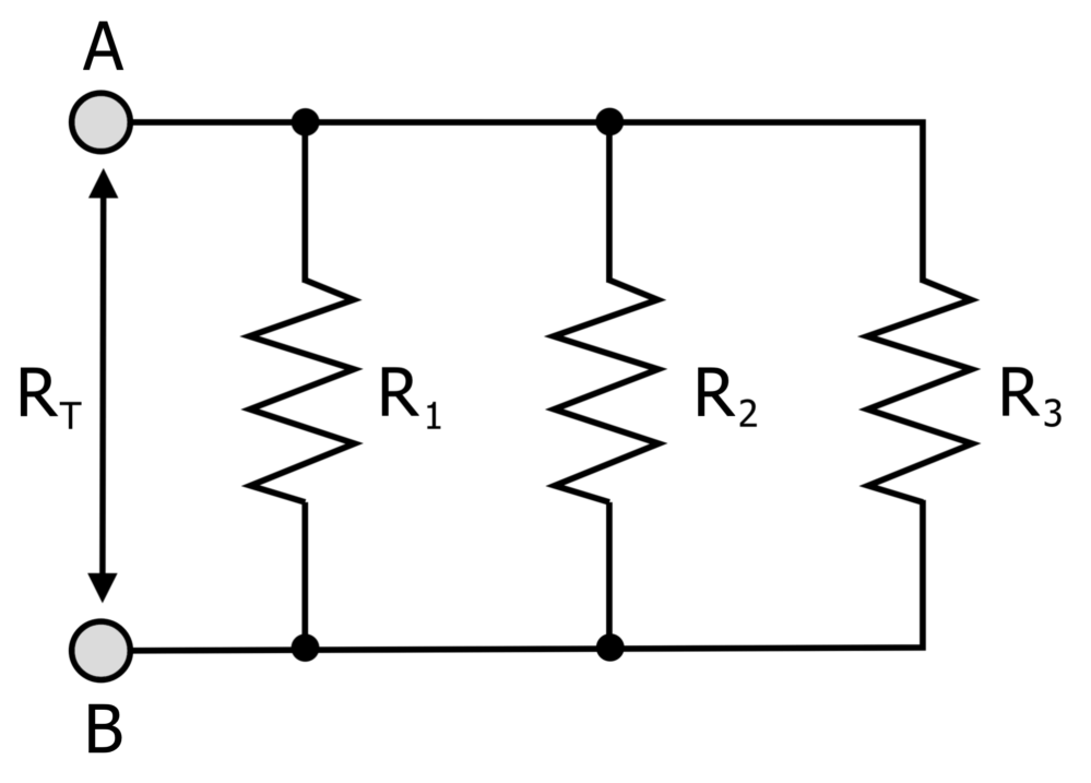 medium resolution of electrical circuit diagram showing resistors connected in parallel
