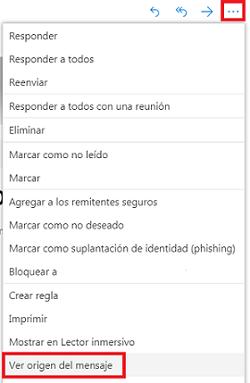 Hotmail ver origen del mensaje