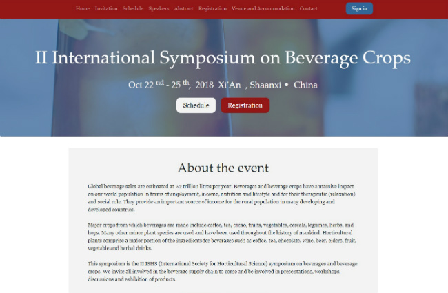 International Symposium on Beverage Crops, China | シードル