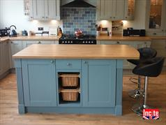 handmade kitchen islands green cabinet doors totally derbyshire handcrafted painted british hand custom made island bespoke furniture by incite interiors