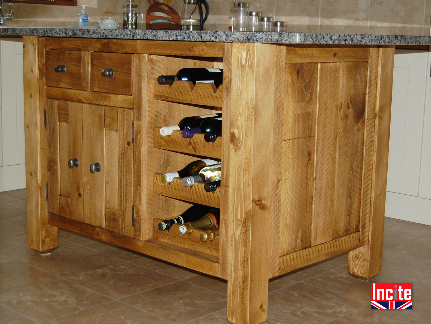 kitchen islands uk outdoor modules handcrafted rustic solid wooden by incite