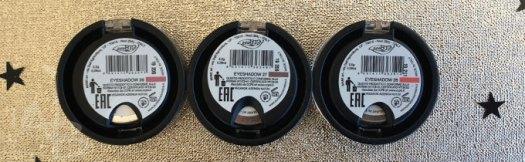 Dettagli del packaging degli ombretti Purobio