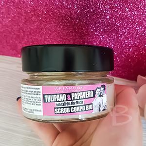 Etichetta scrub Apiarium Tulipano e papavero