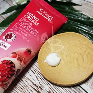 Consistenza crema mani Cien pomegranate