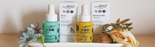 Sieri della linea skincare PuroBIO for Skin