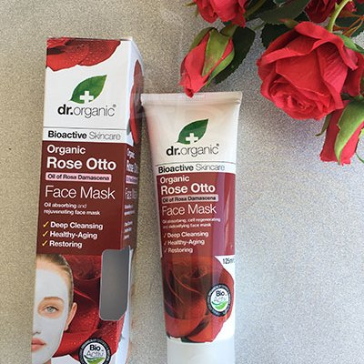 Packaging del Rose Otto Face Mask di Dr Organic