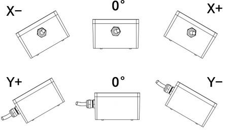 2 Axis Crane inclinometer Switch